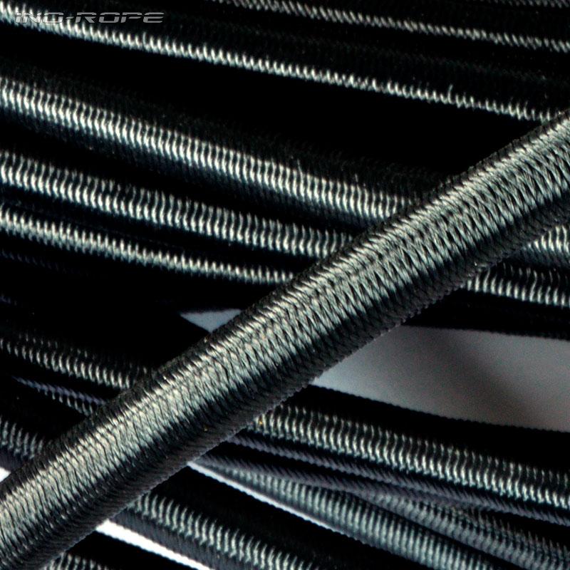 Sandow (élastique) noir avec gaine polyester - Boutique en ligne Ino-Rope