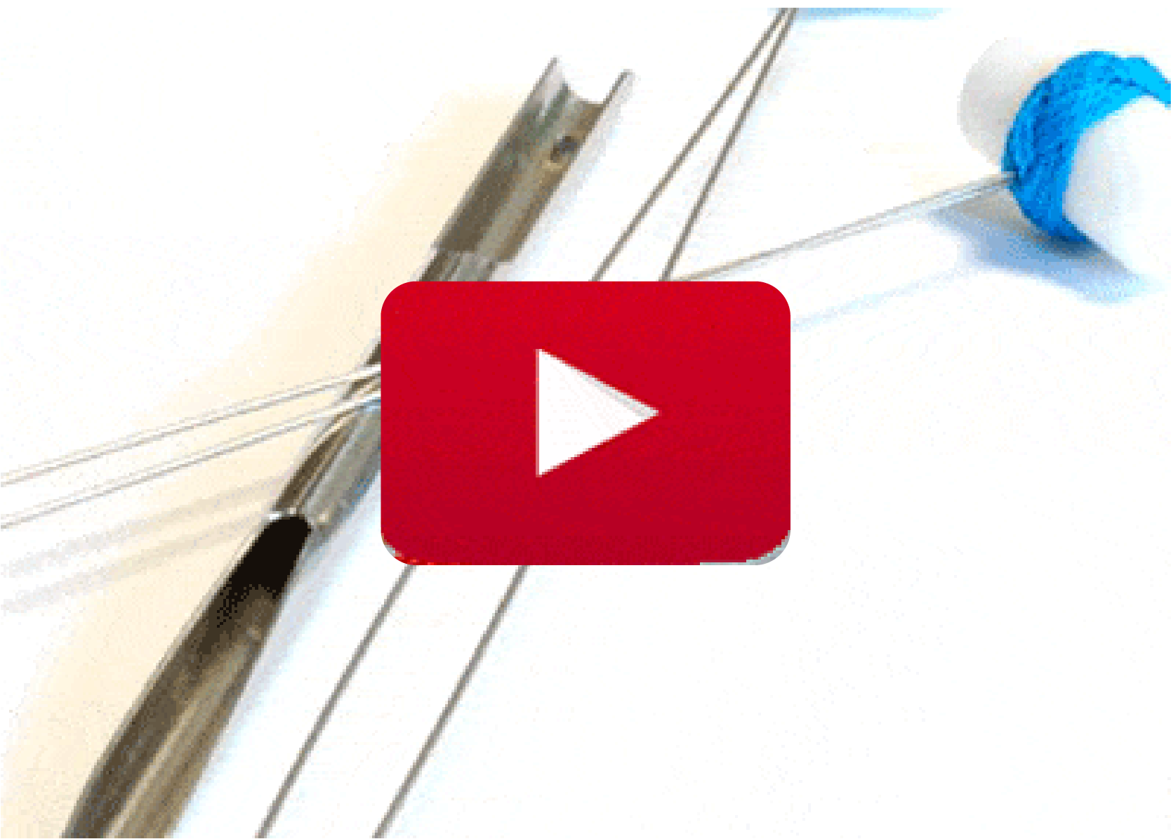 Splicing needle with long eye, instructions