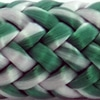 Photo d'un cordage ame dyneema ensimée blanc et vert albatros