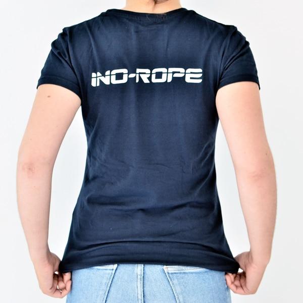 Photo d'un T shirt femme de dos bleu marine de la marque Ino-Rope