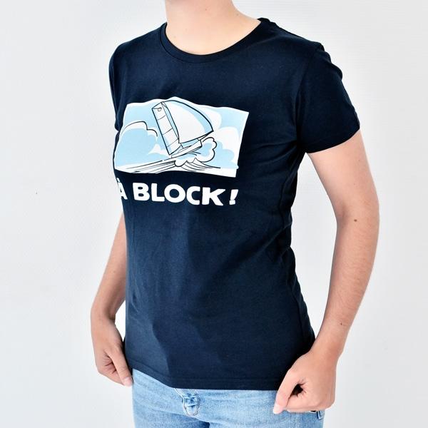 Photo d'un T-shirt bleu marine femme de la marque Ino-Rope