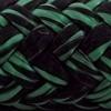 Une photo d'un cordage cyan et noir