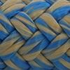 Une photo d'un cordage bleu et blanc