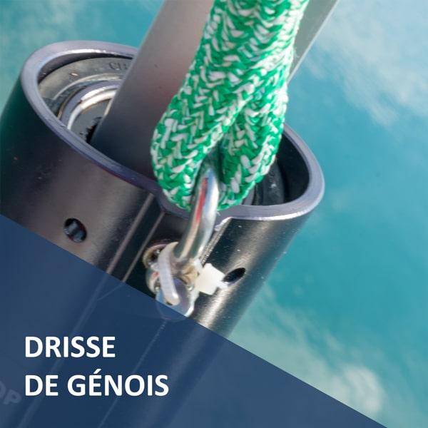 Drisse de Génois Premium prête à l'emploi Croisière Côtière