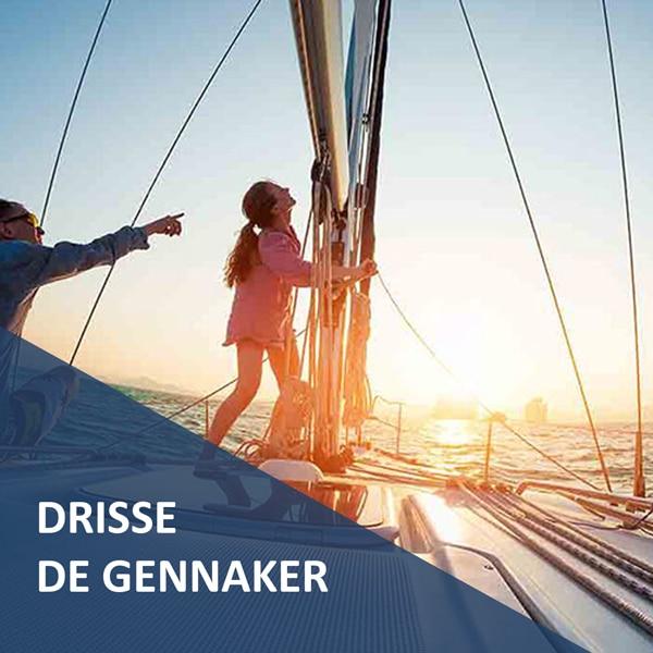 Drisse de Gennaker Premium prête à l'emploi Croisière Côtière