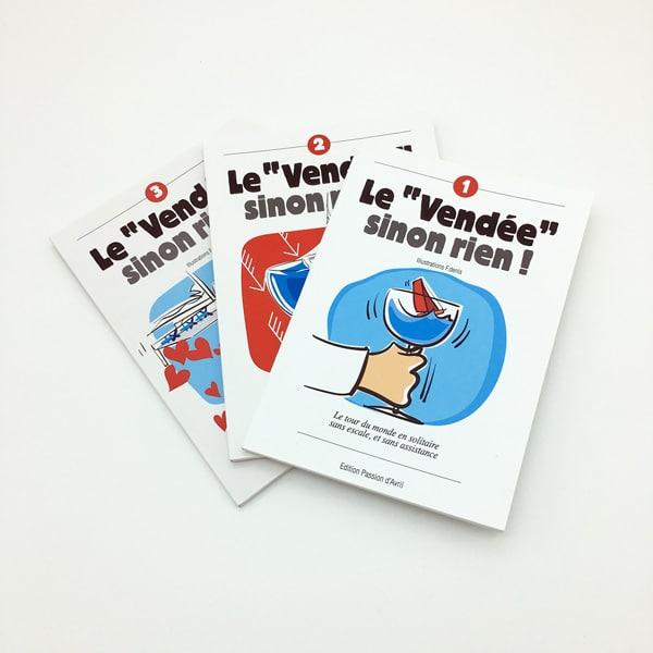 """Lot de """" livres Un vendée Globe sinon rien François Denis"""