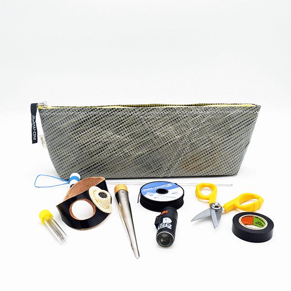 """Kit de matelotage """"Expert"""" avec trousse de matelotage voile recyclée"""