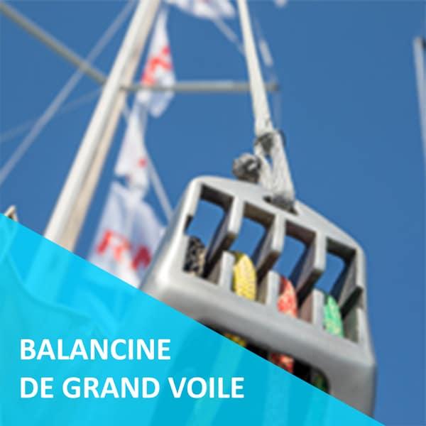 balancine de bôme de grand voile pour bateaux de régate