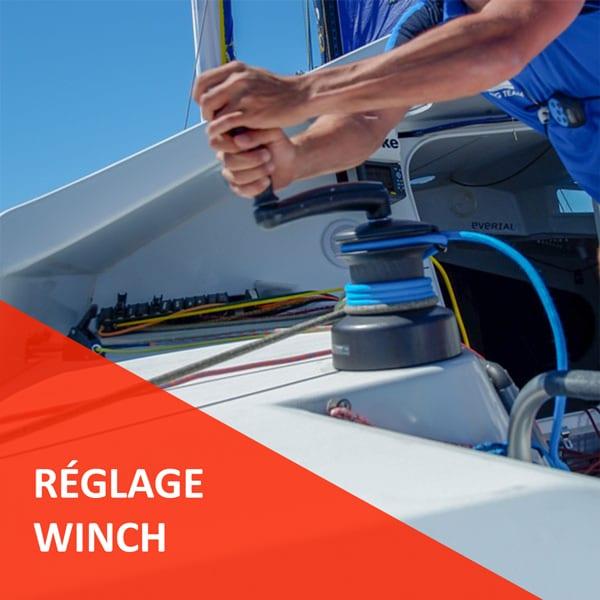 Réglages Winch prêts à l'emploi Course au Large