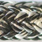 photo d'un cordage alba blanc et noir